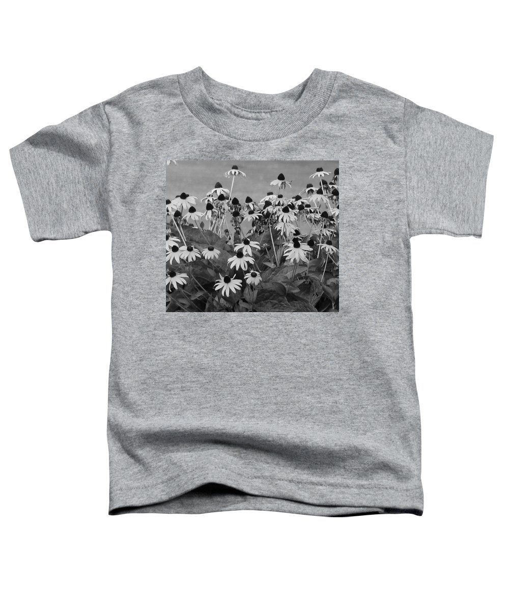 Toddler T-Shirt featuring the photograph Black And White Susans by Luciana Seymour