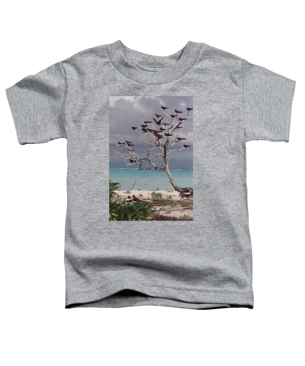 Charity Toddler T-Shirt featuring the photograph Black Birds by Mary-Lee Sanders