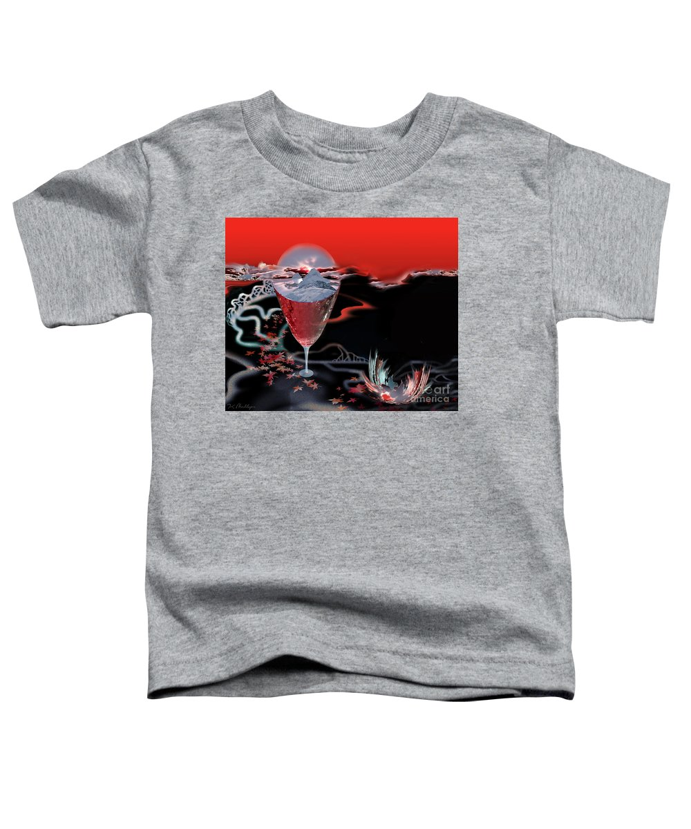 Blood Toddler T-Shirt featuring the digital art Blood Red From Pure White by Jennifer Kathleen Phillips