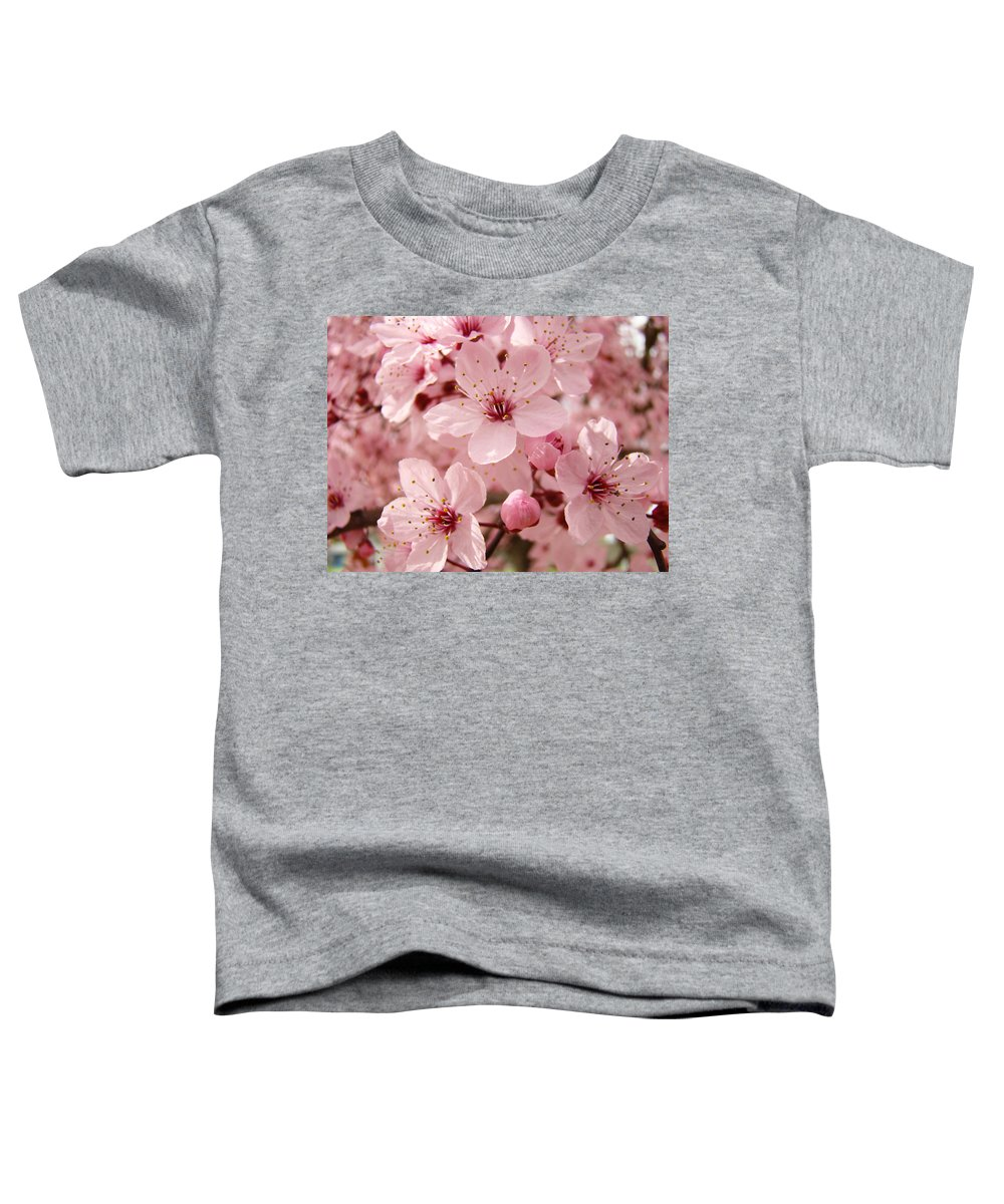 Nature Toddler T-Shirt featuring the photograph Blossoms Art Prints 63 Pink Blossoms Spring Tree Blossoms by Baslee Troutman