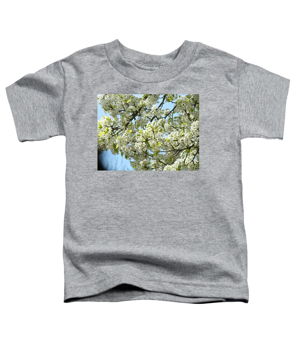�blossoms Artwork� Toddler T-Shirt featuring the photograph Blossoms Whtie Tree Blossoms 29 Nature Art Prints Spring Art by Baslee Troutman
