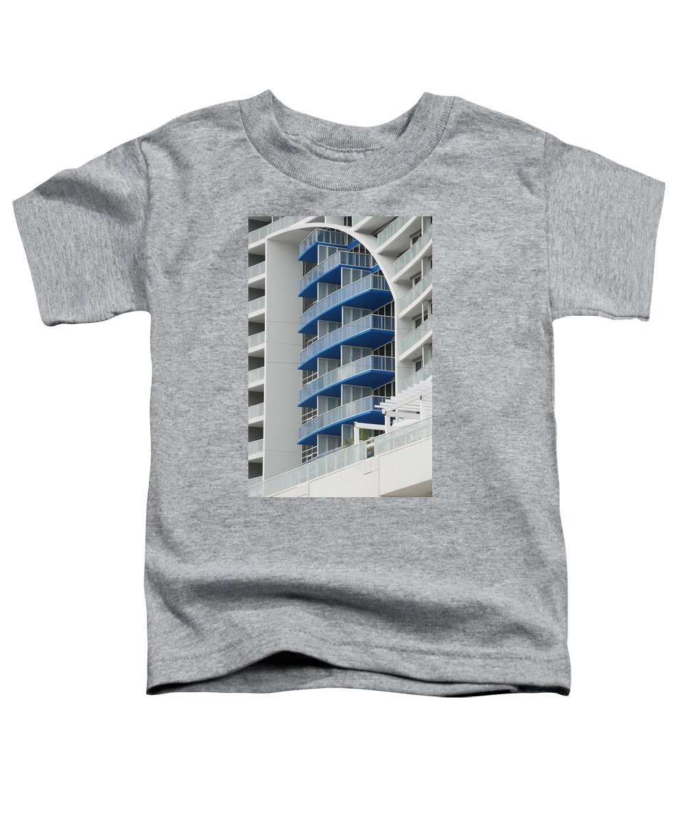 Architecture Toddler T-Shirt featuring the photograph Blue Bayu by Rob Hans