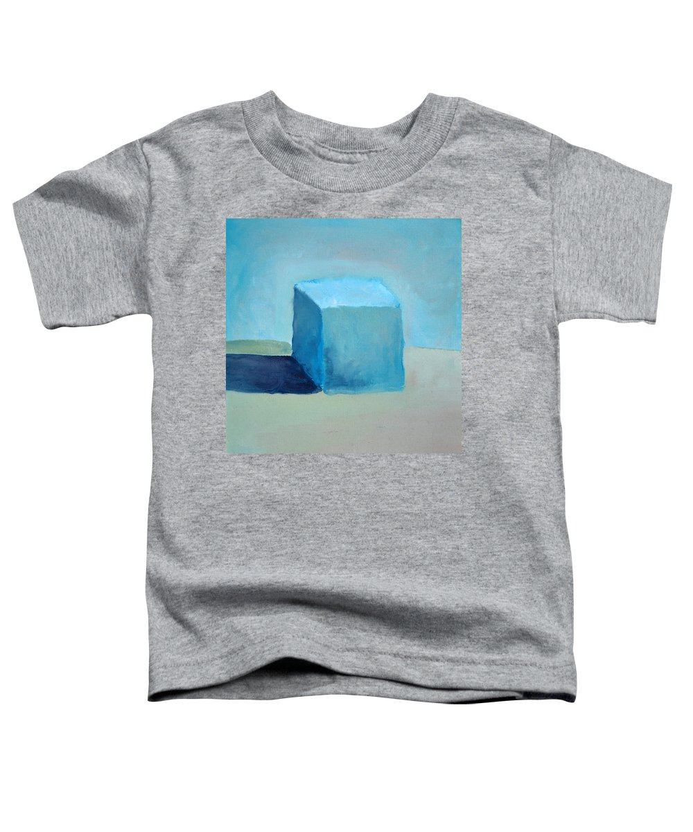 Blue Toddler T-Shirt featuring the painting Blue Cube Still Life by Michelle Calkins