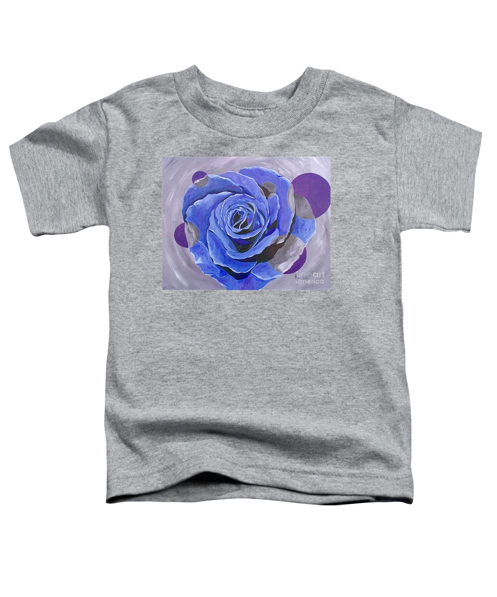 Acrylic Toddler T-Shirt featuring the painting Blue Ice by Herschel Fall