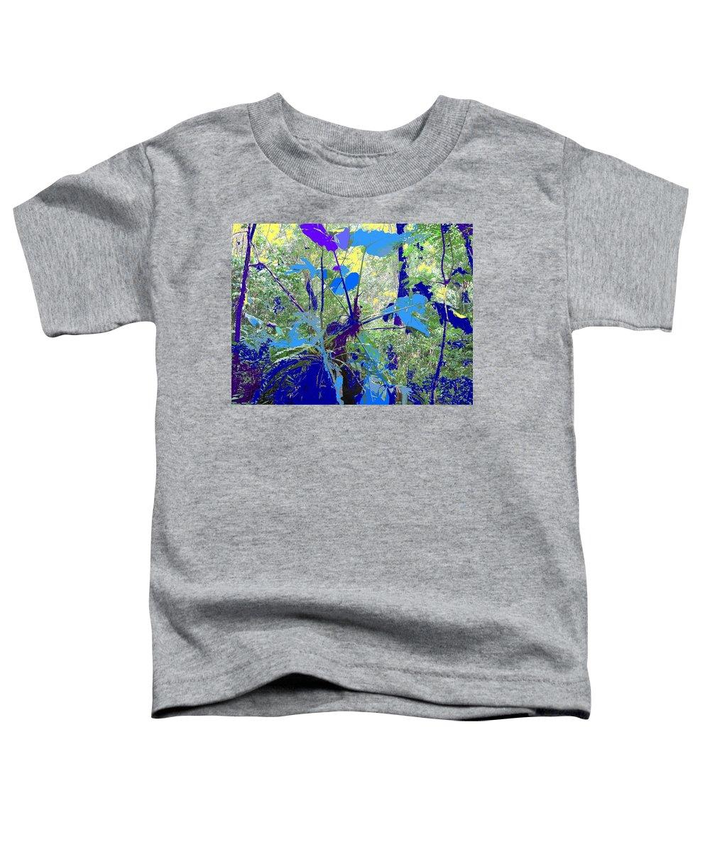 Toddler T-Shirt featuring the photograph Blue Jungle by Ian MacDonald