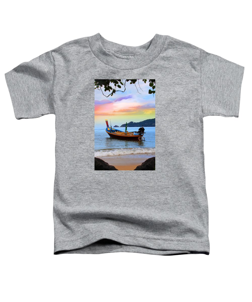 Phuket Toddler T-Shirt featuring the photograph Blue by Mark Ashkenazi