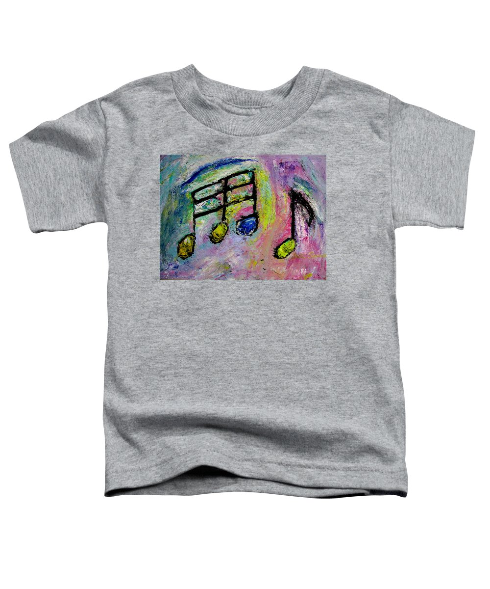 Impressionist Toddler T-Shirt featuring the painting Blue Note by Anita Burgermeister