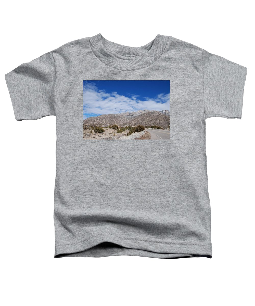 Sandia Mountains Toddler T-Shirt featuring the photograph Blue Skys Over The Sandias by Rob Hans