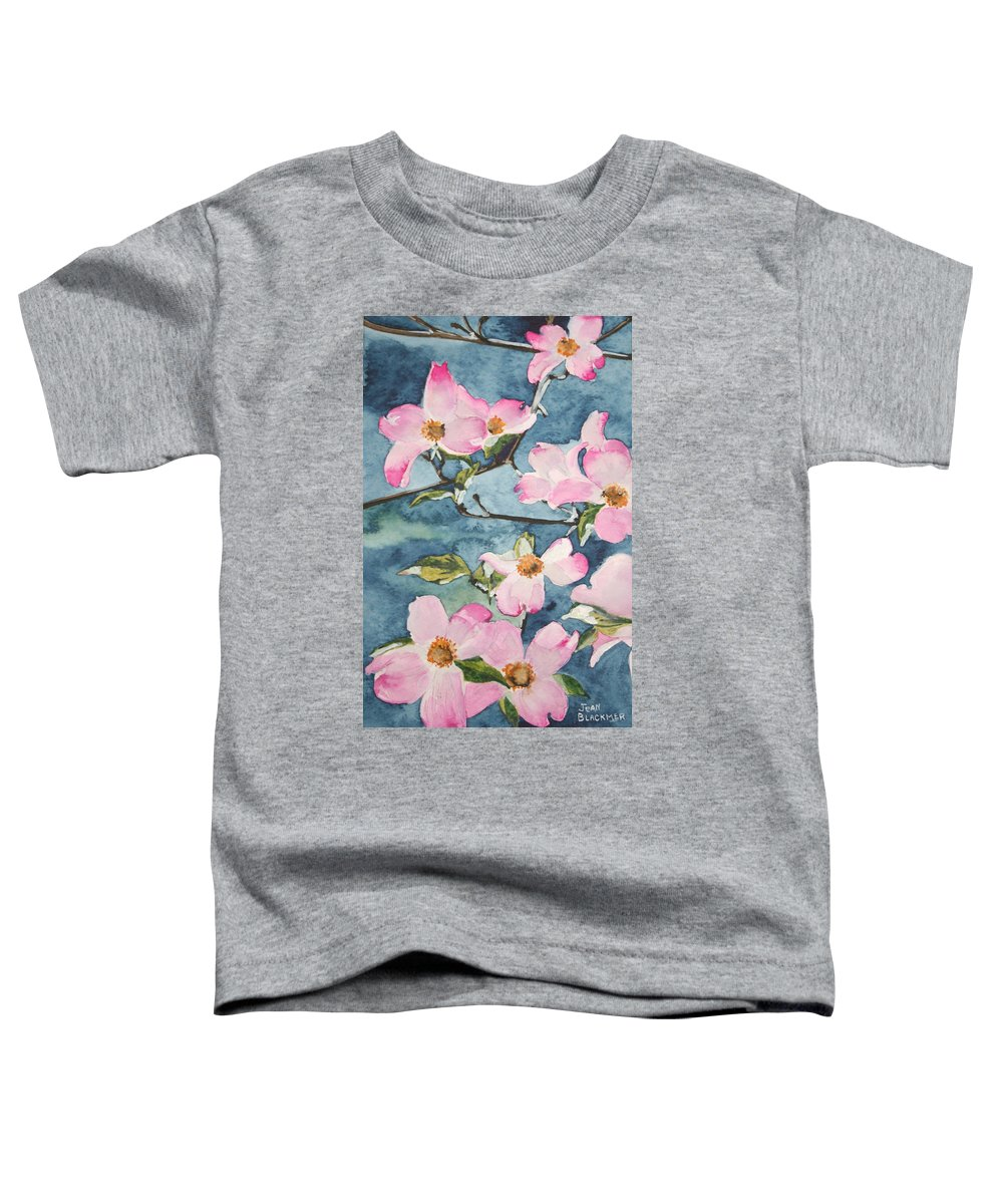 Flowers Toddler T-Shirt featuring the painting Blushing Prettily by Jean Blackmer