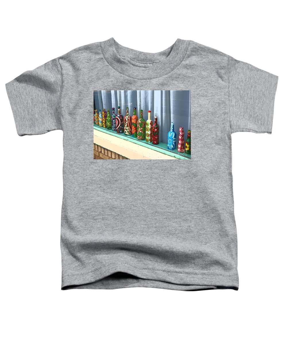 Bottles Toddler T-Shirt featuring the photograph Bottled Up by Debbi Granruth