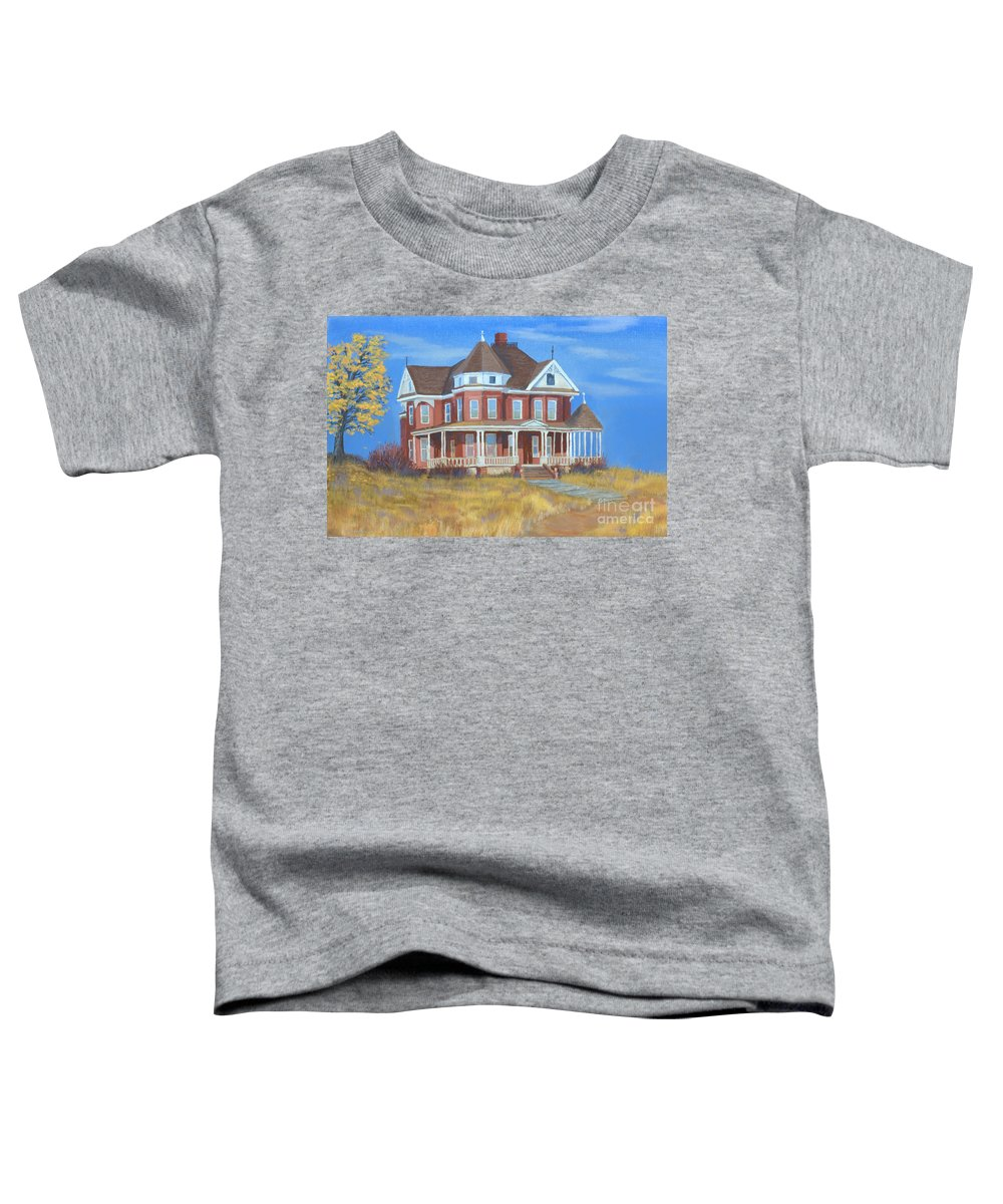 Boulder Toddler T-Shirt featuring the painting Boulder Victorian by Jerry McElroy