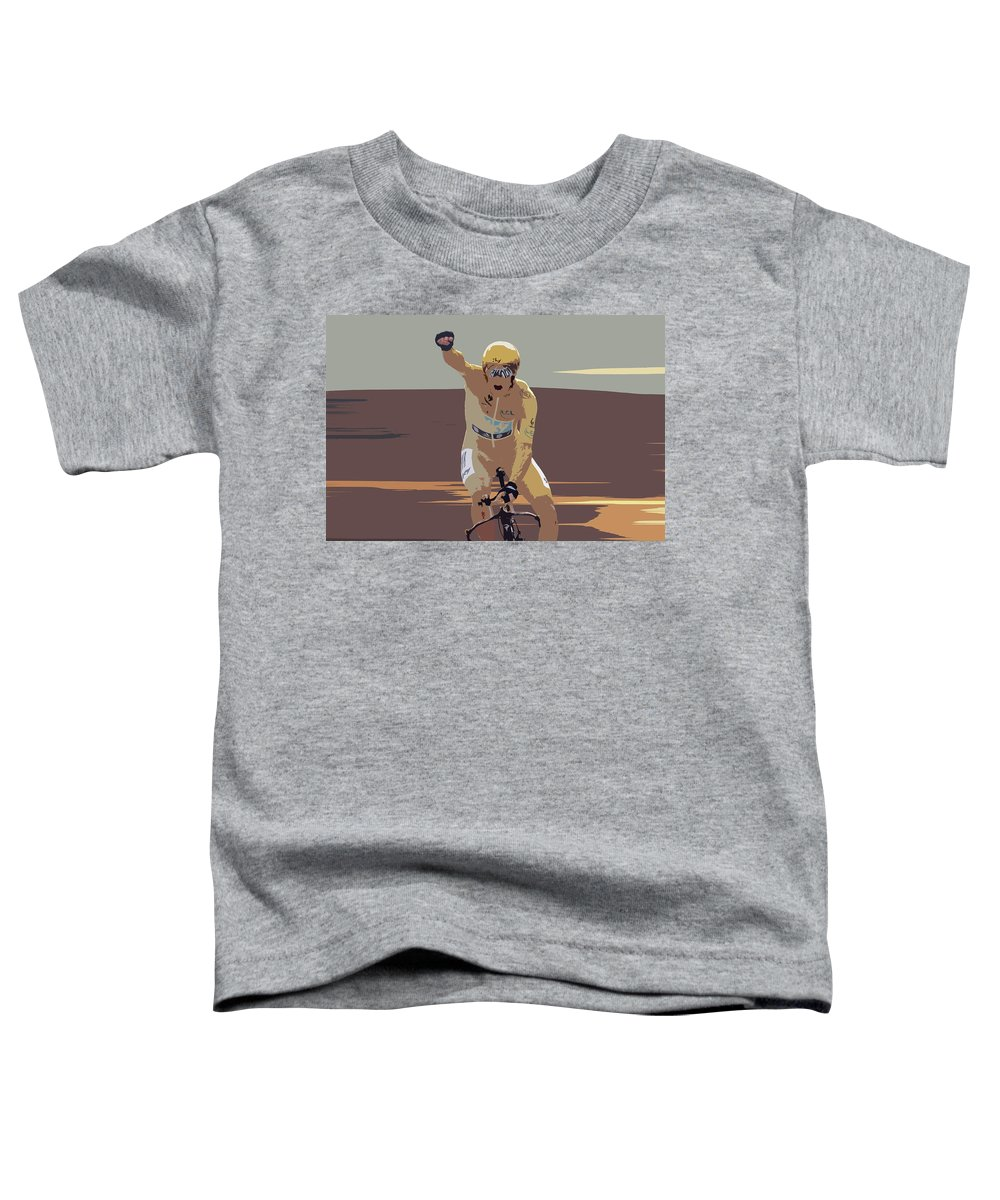 Bradley Wiggins Toddler T-Shirt featuring the photograph Bradley Wiggins Digital Art by Smart Aviation