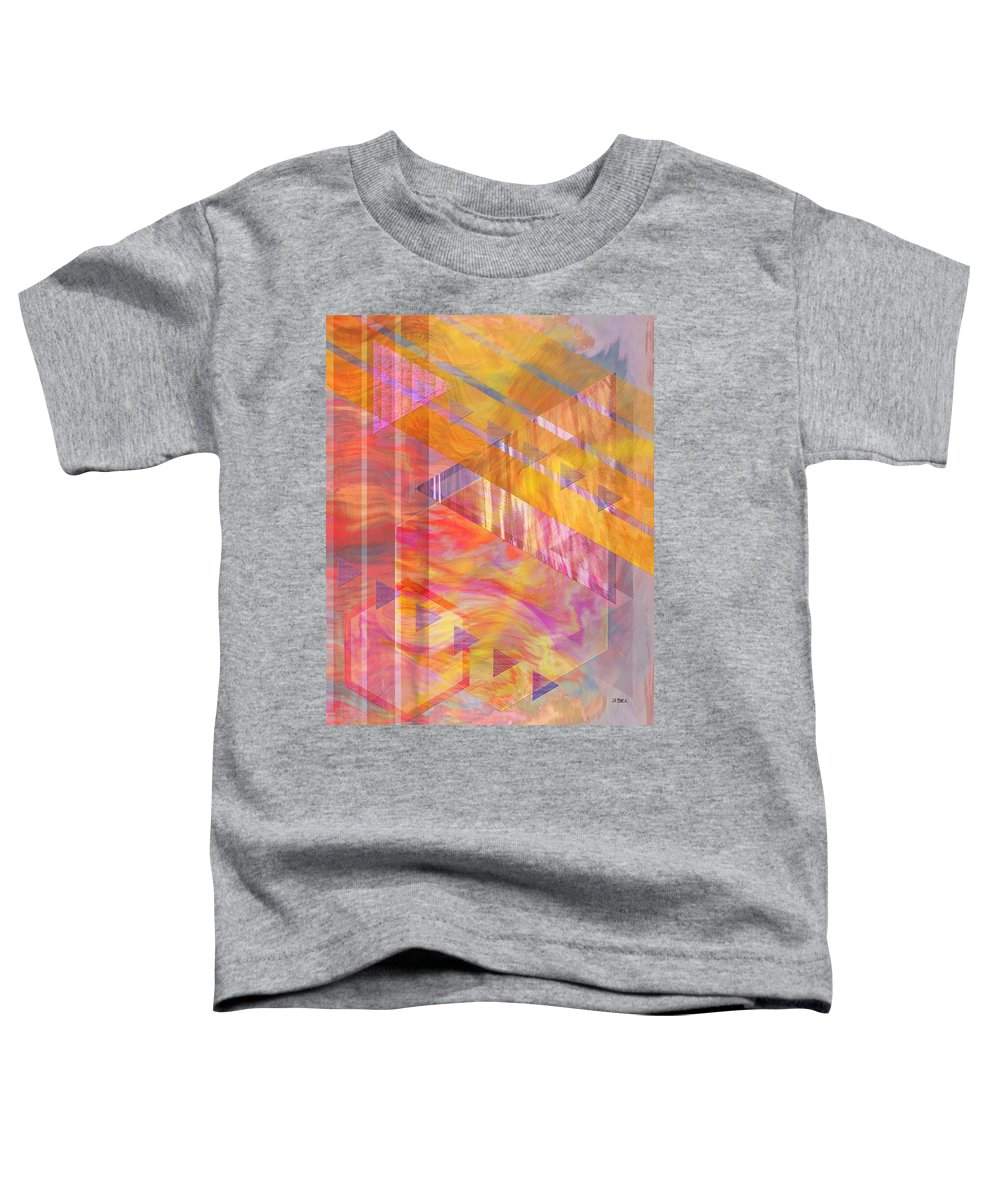 Affordable Art Toddler T-Shirt featuring the digital art Bright Dawn by John Beck