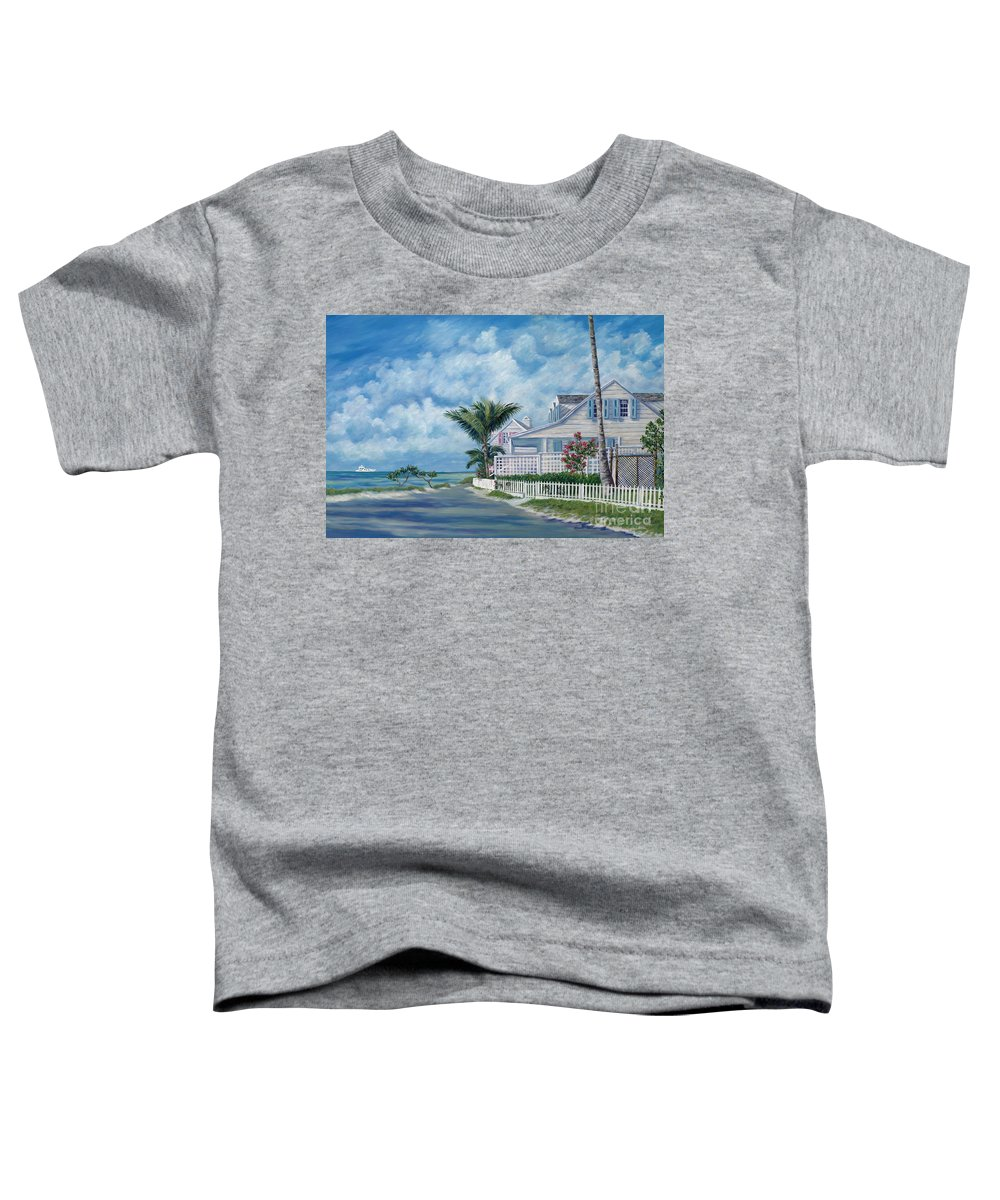 Harbor Island Toddler T-Shirt featuring the painting Briland Breeze by Danielle Perry