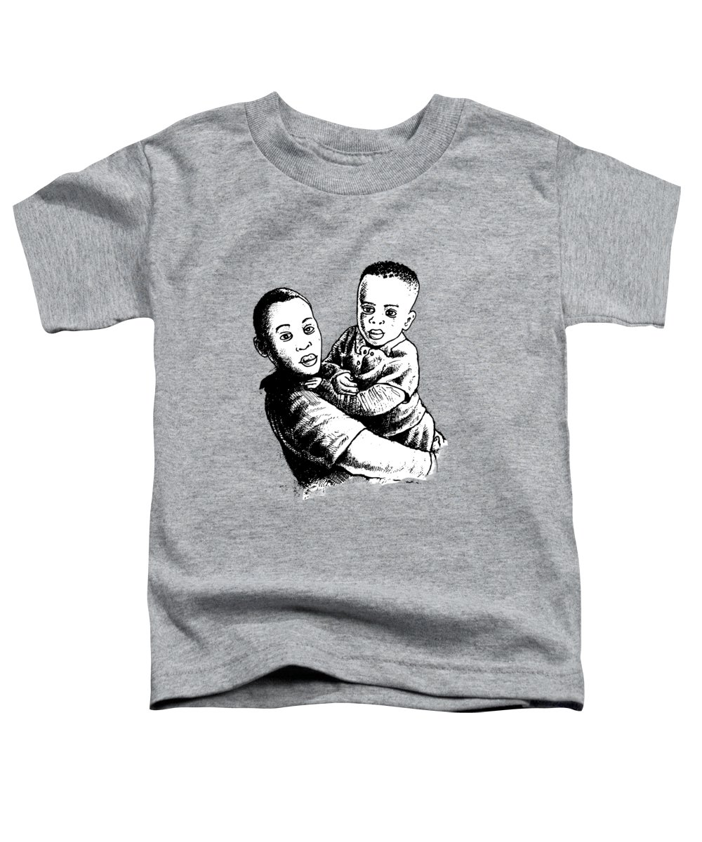 Biro Toddler T-Shirt featuring the painting Brothers by Anthony Mwangi