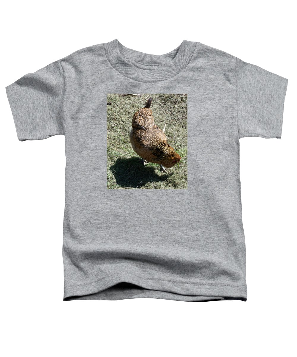 Hen Toddler T-Shirt featuring the photograph Brownie The Hen by Laurie Kidd