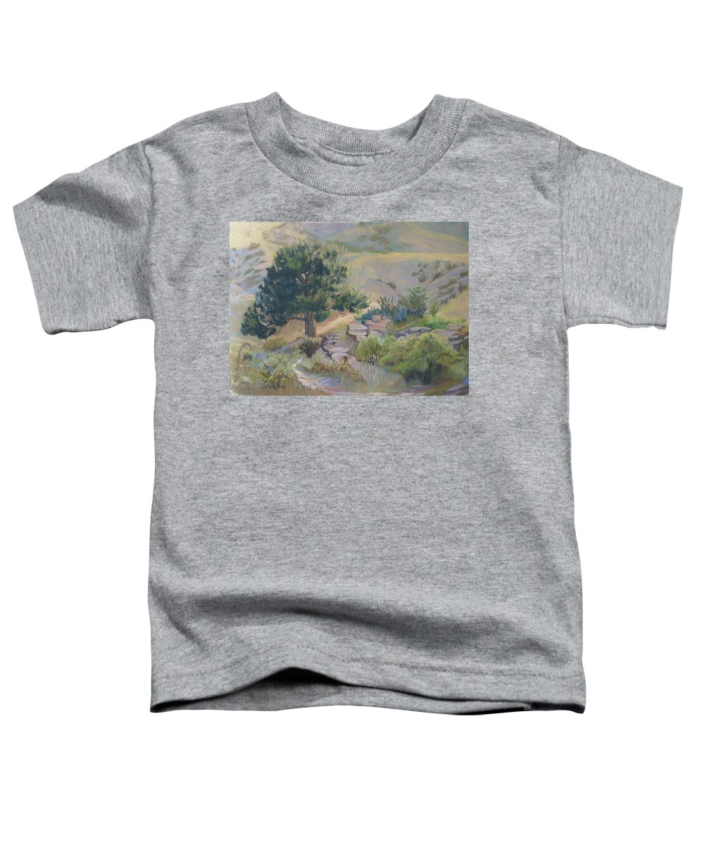 Pine Tree Toddler T-Shirt featuring the painting Buckhorn Canyon by Heather Coen