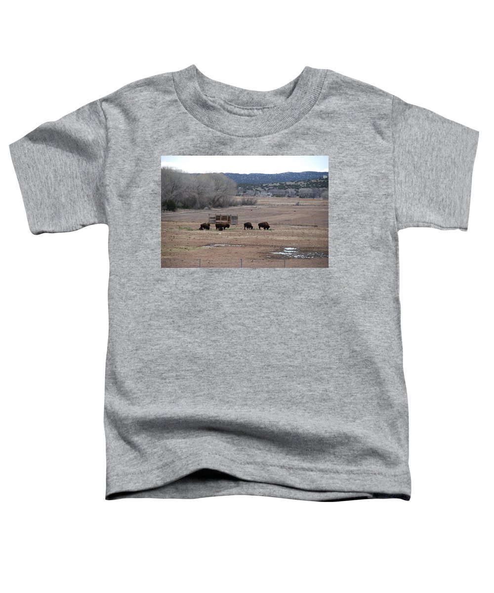 Buffalo Toddler T-Shirt featuring the photograph Buffalo New Mexico by Rob Hans