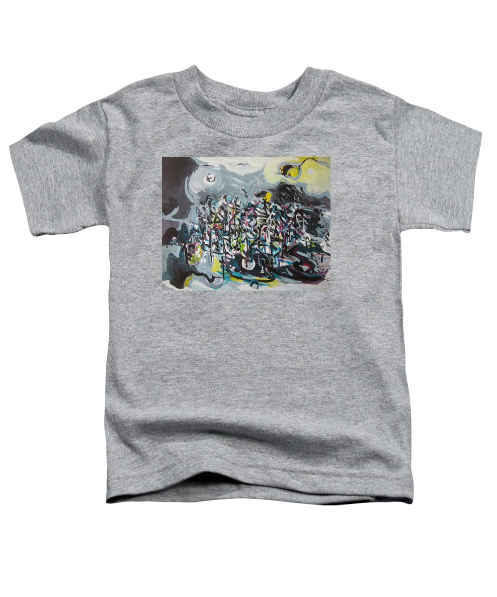 Abstract Paintings Toddler T-Shirt featuring the painting Bummer Flat11 by Seon-Jeong Kim