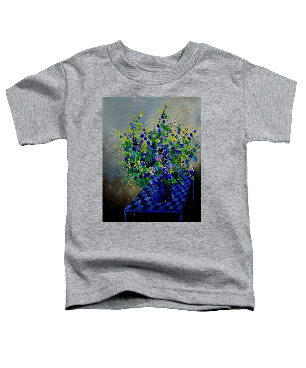 Flowers Toddler T-Shirt featuring the painting Bunch 9020 by Pol Ledent