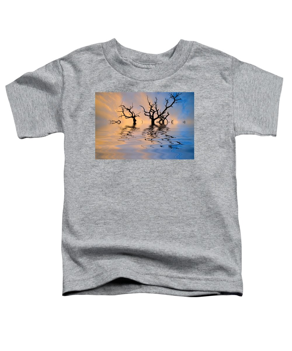 Original Art Toddler T-Shirt featuring the photograph Slowly Sinking by Jerry McElroy