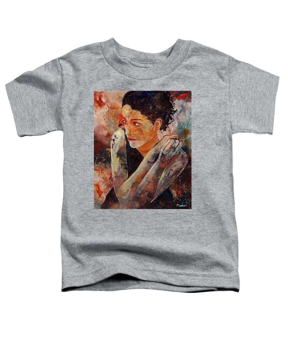 Figurative Toddler T-Shirt featuring the painting Candid Eyes by Pol Ledent