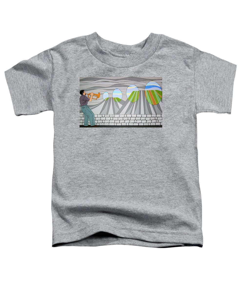 Trumpet Toddler T-Shirt featuring the painting Candy Lips by Patricia Van Lubeck