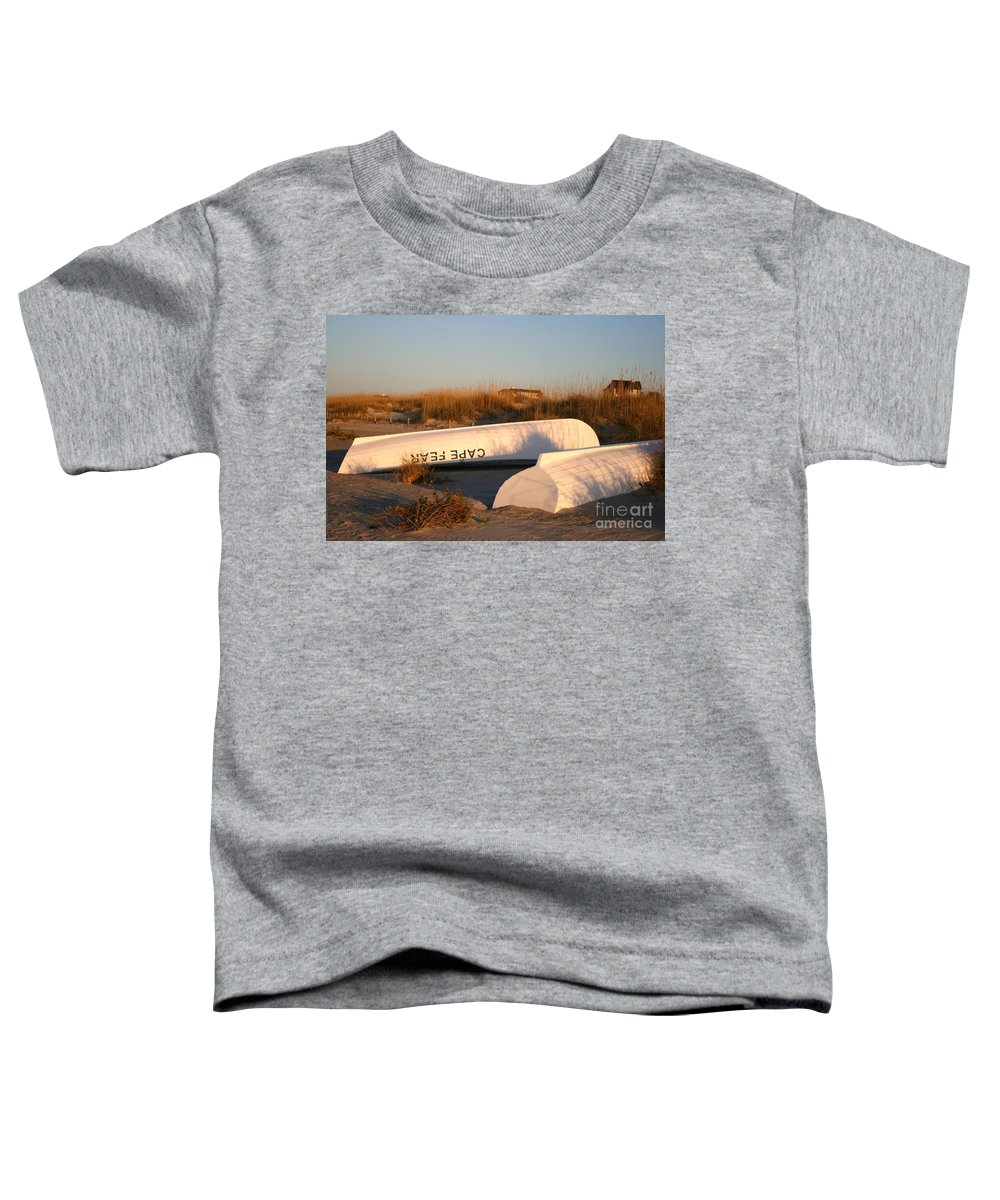 Boats Toddler T-Shirt featuring the photograph Cape Fear Boats by Nadine Rippelmeyer