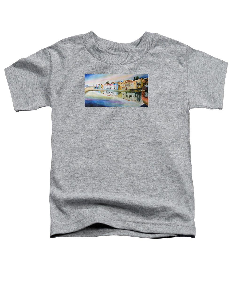 Capitola Toddler T-Shirt featuring the painting Capitola by Karen Stark