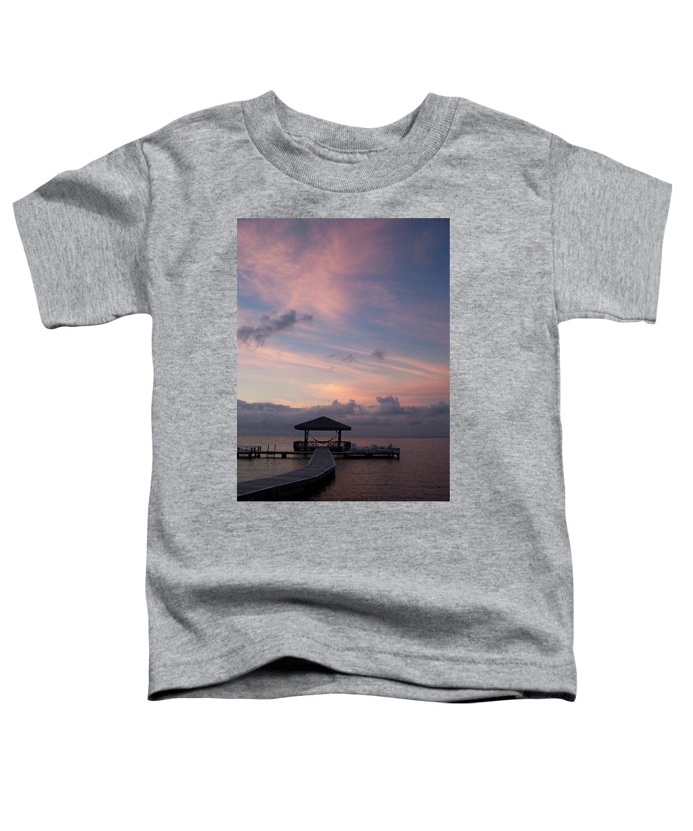 Ocean Toddler T-Shirt featuring the photograph Caribbean Sunrise by Gale Cochran-Smith