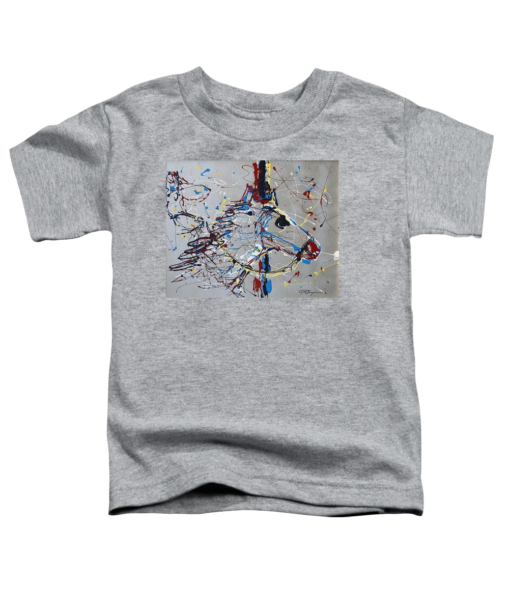 Carousel Horse Toddler T-Shirt featuring the mixed media Carousel Horse by J R Seymour