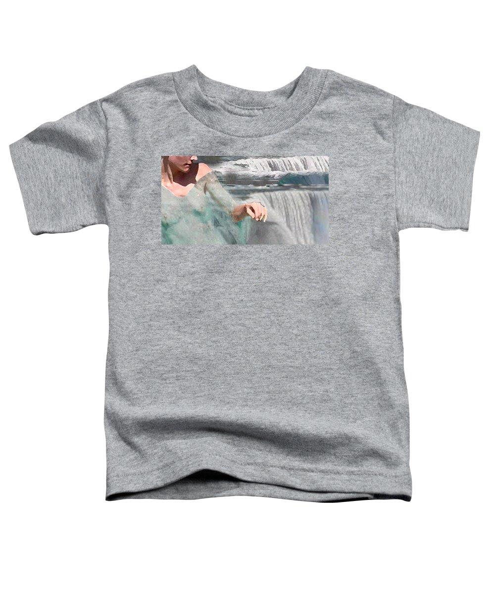 Waterscape Toddler T-Shirt featuring the digital art Cascade by Steve Karol