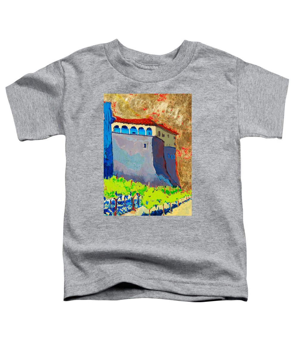 Castle Toddler T-Shirt featuring the painting Castello Di Villafranca by Kurt Hausmann