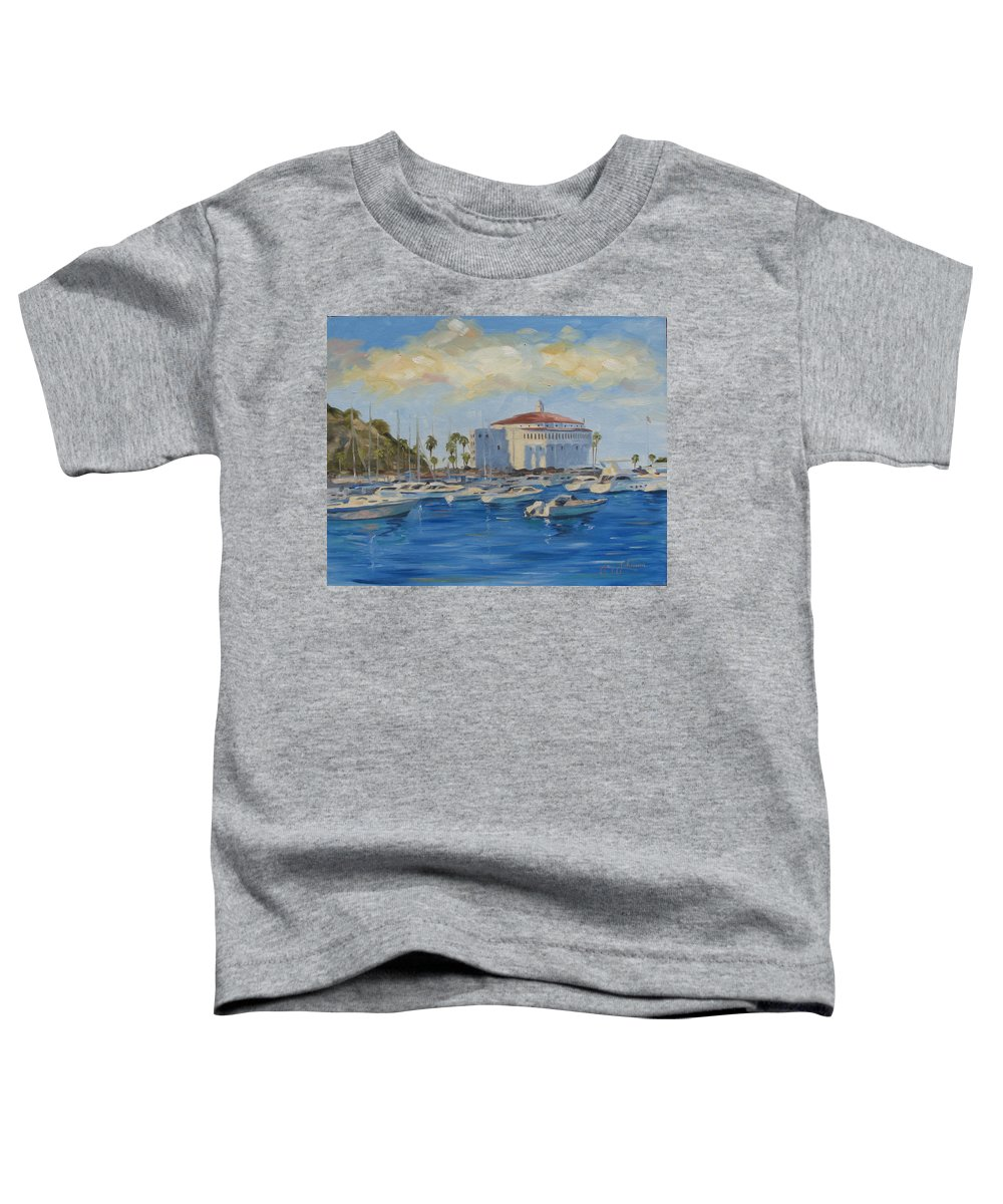 California Toddler T-Shirt featuring the painting Catallina Casino by Jay Johnson