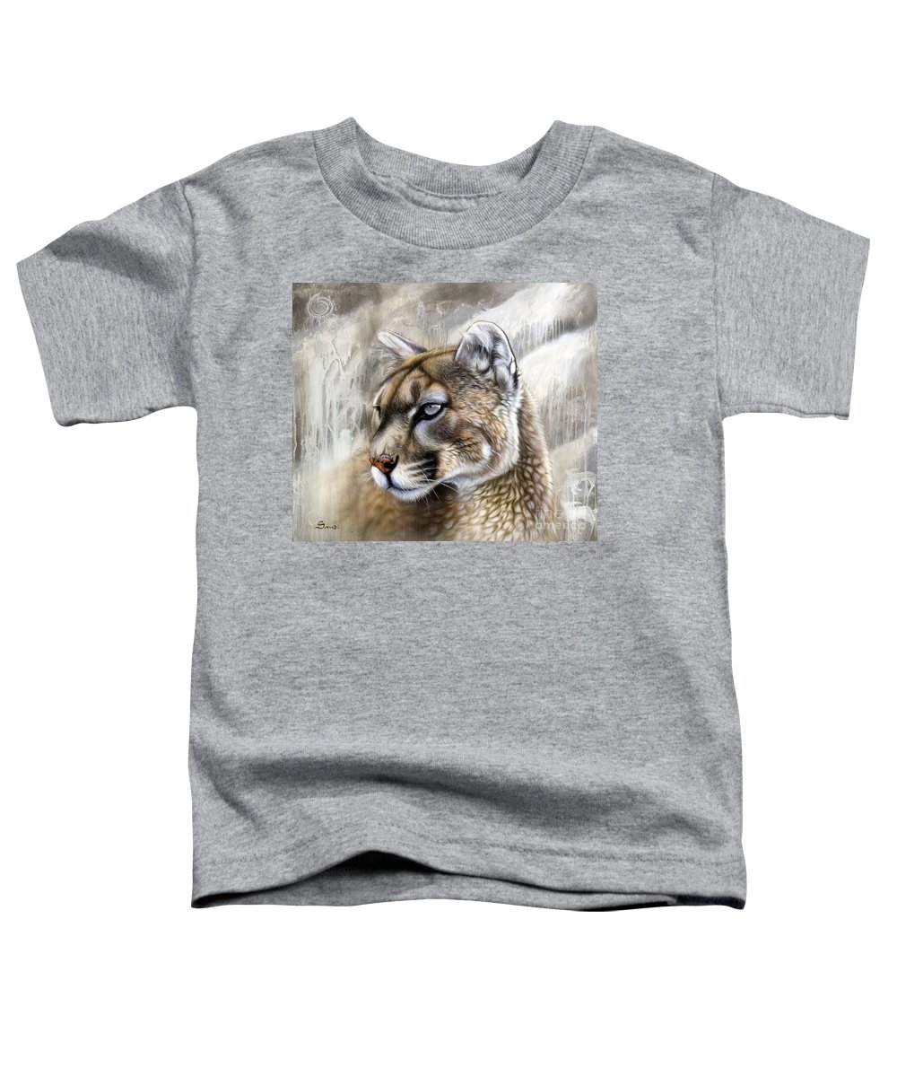 Acrylic Toddler T-Shirt featuring the painting Catamount by Sandi Baker