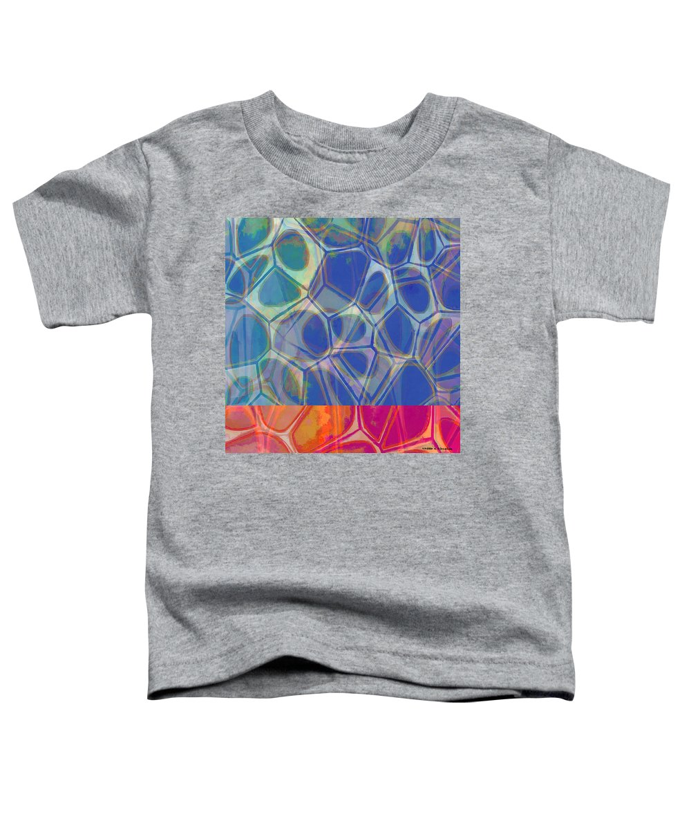 Painting Toddler T-Shirt featuring the painting Cell Abstract One by Edward Fielding
