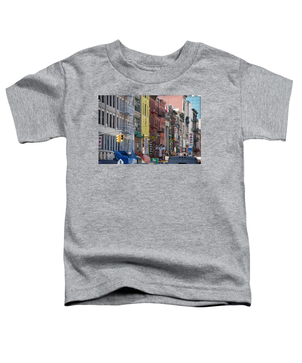 Architecture Toddler T-Shirt featuring the photograph Chinatown Walk Ups by Rob Hans
