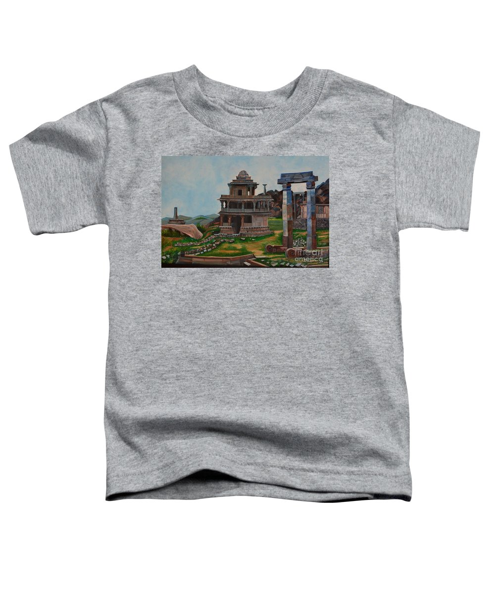 Landscape Toddler T-Shirt featuring the painting Cithradurga Fort by Usha Rai