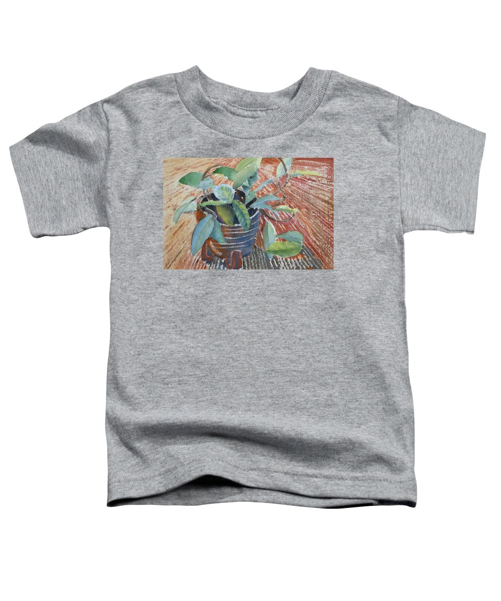 Vine Toddler T-Shirt featuring the painting Clay Pot by Ruth Kamenev