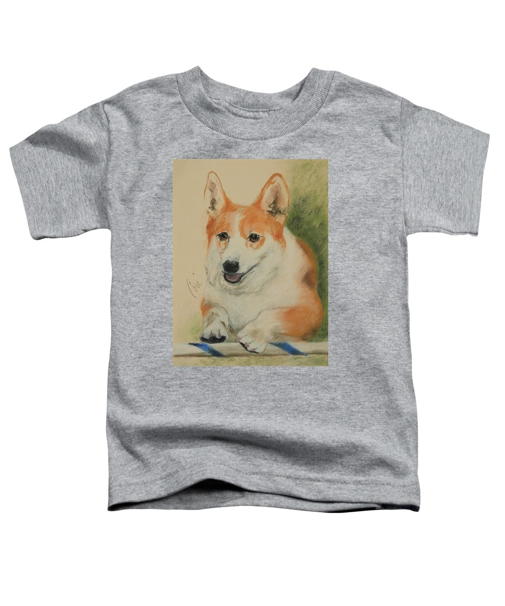 Pastel Toddler T-Shirt featuring the drawing Clear Run by Cori Solomon