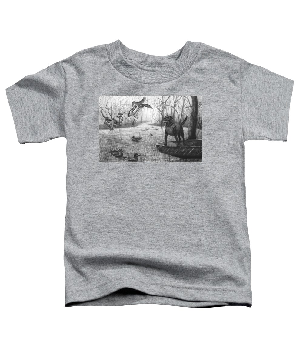 Cloaked Toddler T-Shirt featuring the drawing Cloaked by Peter Piatt