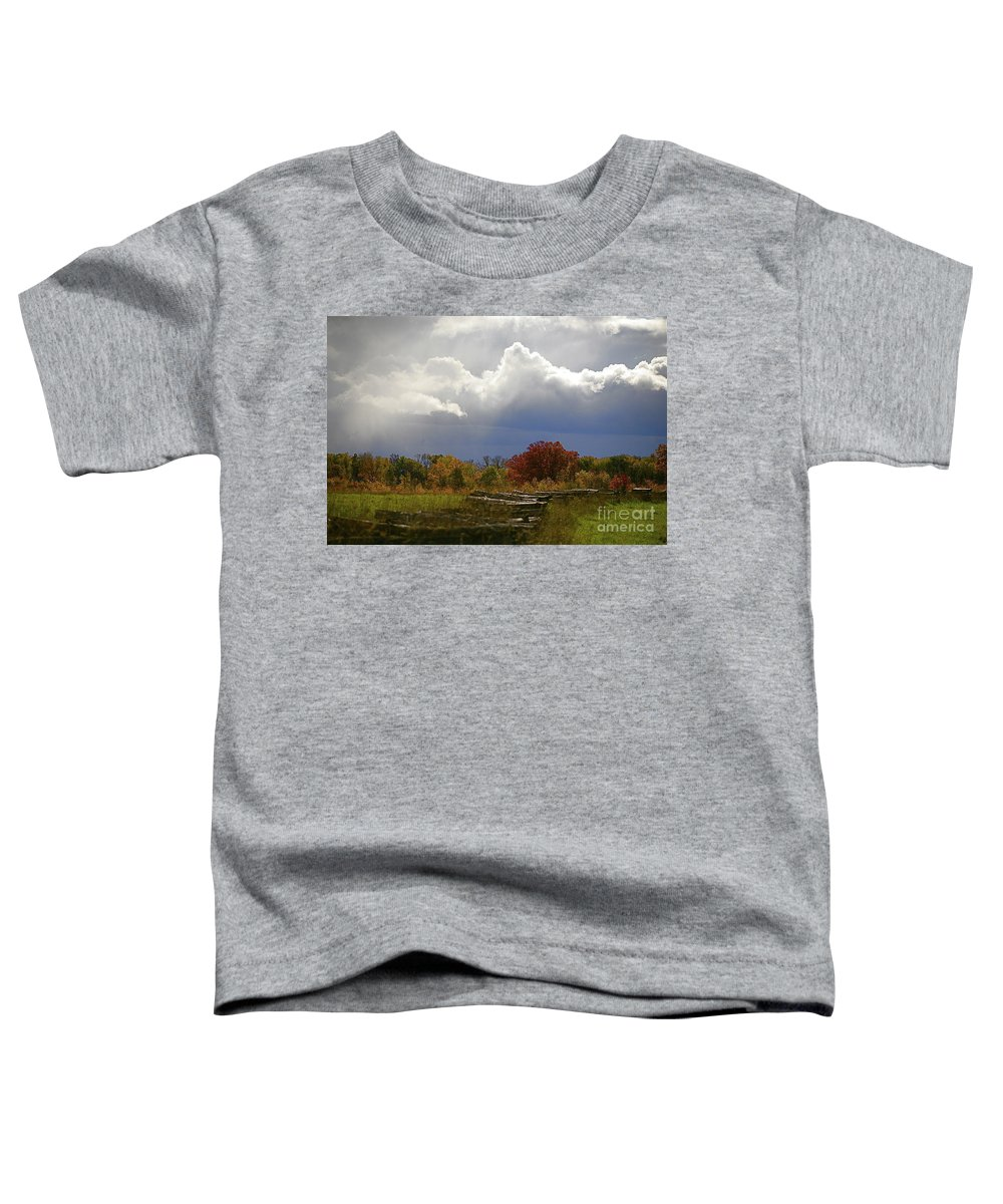 Landscape Toddler T-Shirt featuring the photograph Cold Front by Robert Pearson