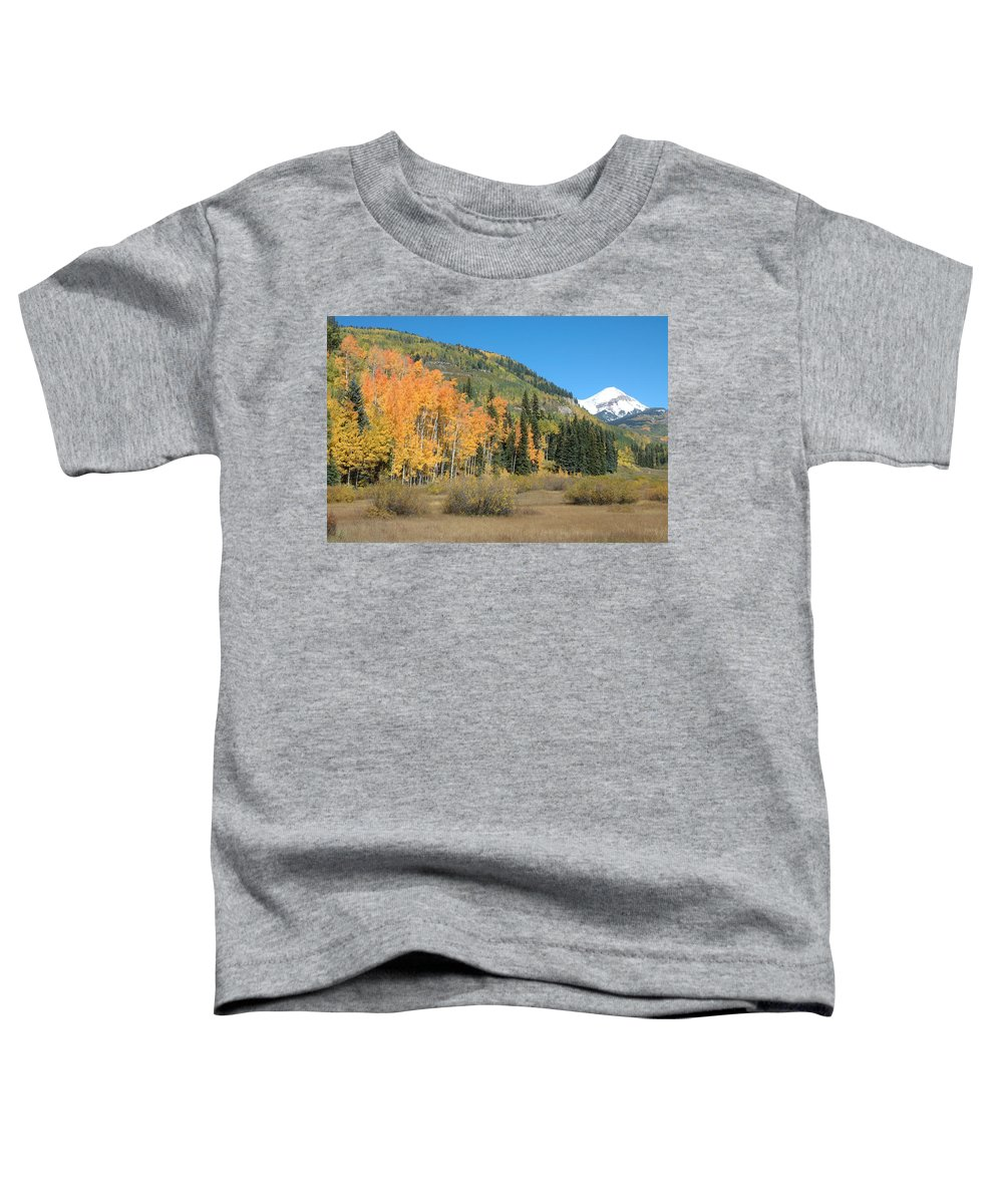Aspen Toddler T-Shirt featuring the photograph Colorado Gold by Jerry McElroy