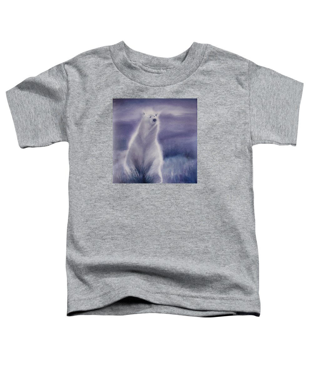 Bear Toddler T-Shirt featuring the painting Cool Bear by Allison Ashton