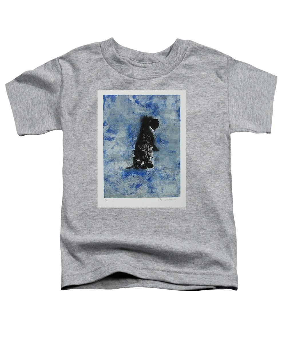 Monotype Toddler T-Shirt featuring the mixed media Cool Blue by Cori Solomon