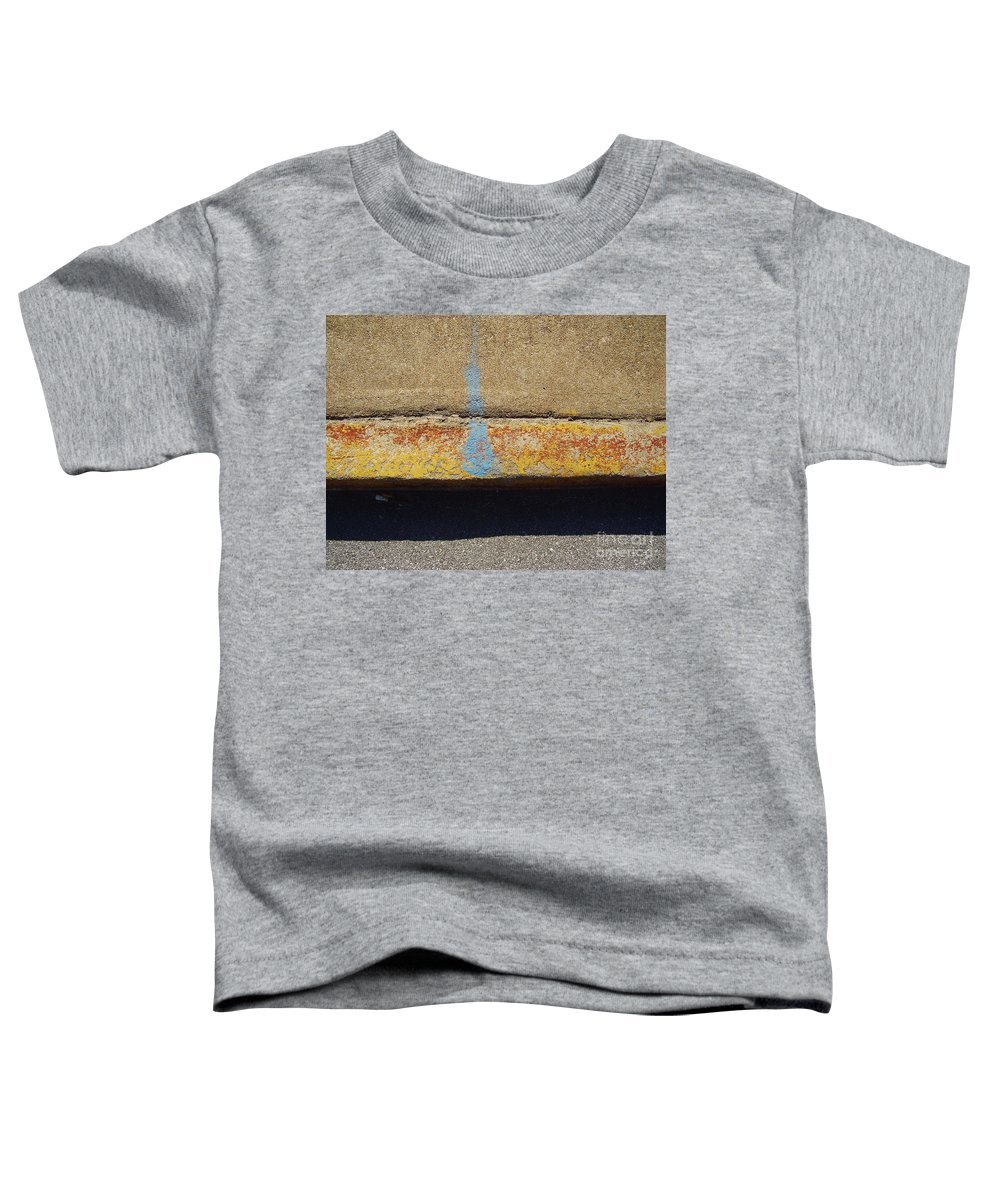 Abstract Toddler T-Shirt featuring the photograph Curb by Flavia Westerwelle