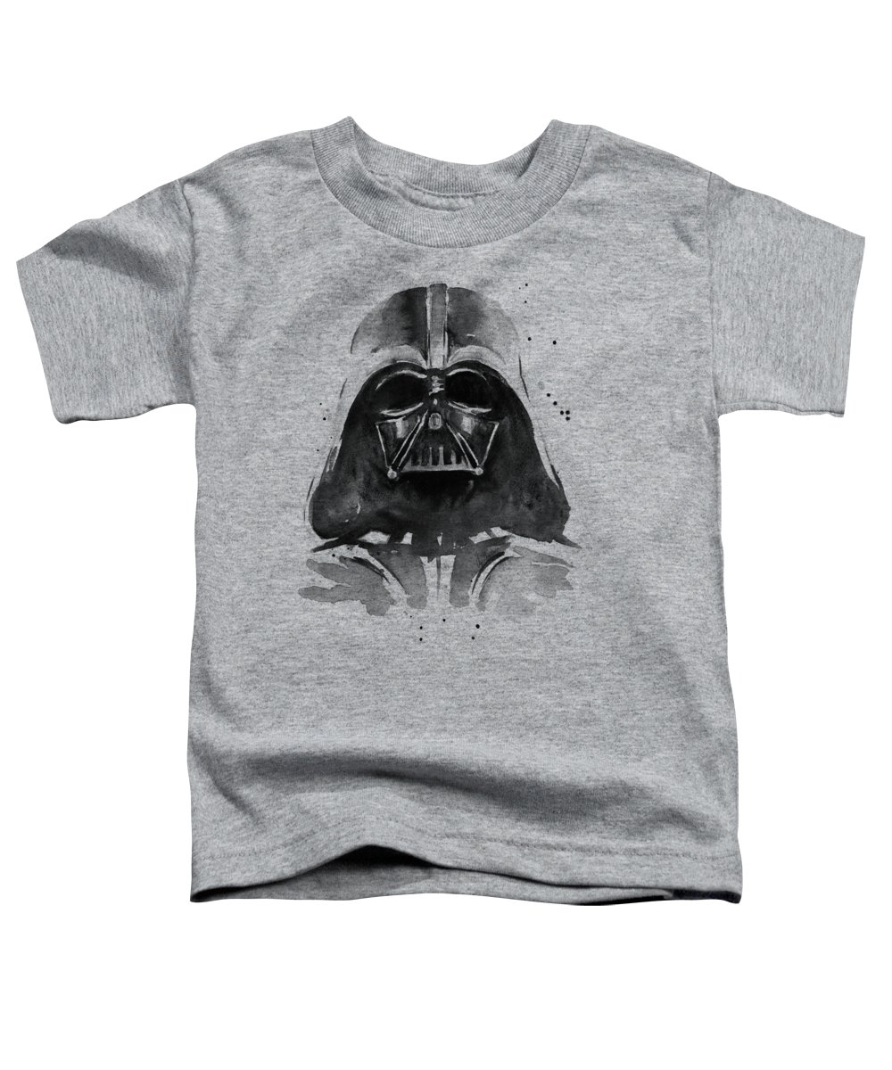 Watercolor Toddler T-Shirt featuring the painting Darth Vader Watercolor by Olga Shvartsur