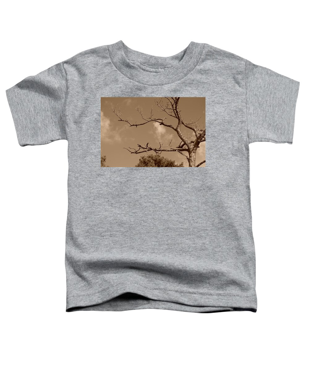 Sepia Toddler T-Shirt featuring the photograph Dead Wood by Rob Hans