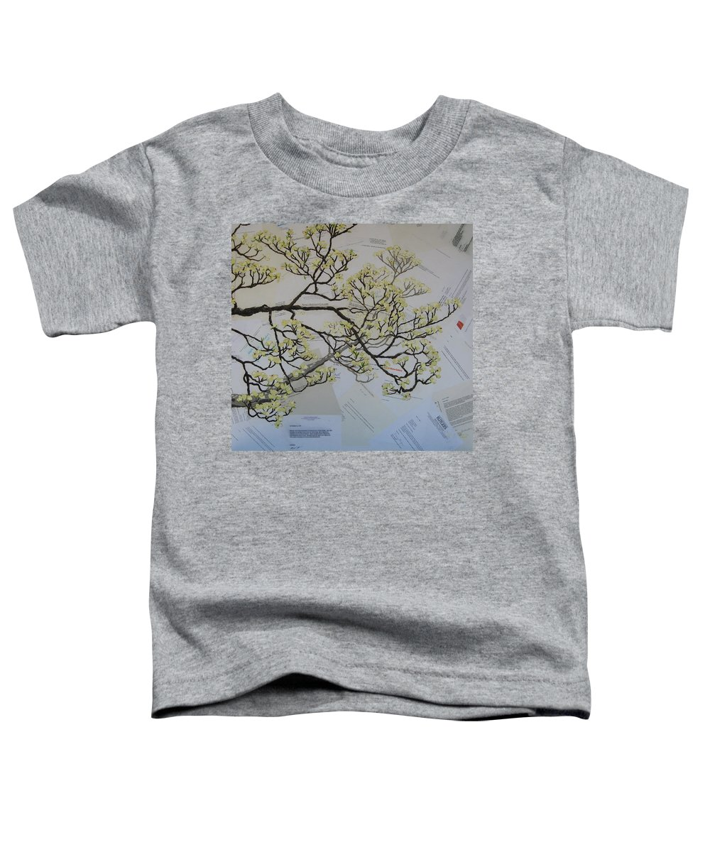 Collage Toddler T-Shirt featuring the painting Dear Artist by Leah Tomaino