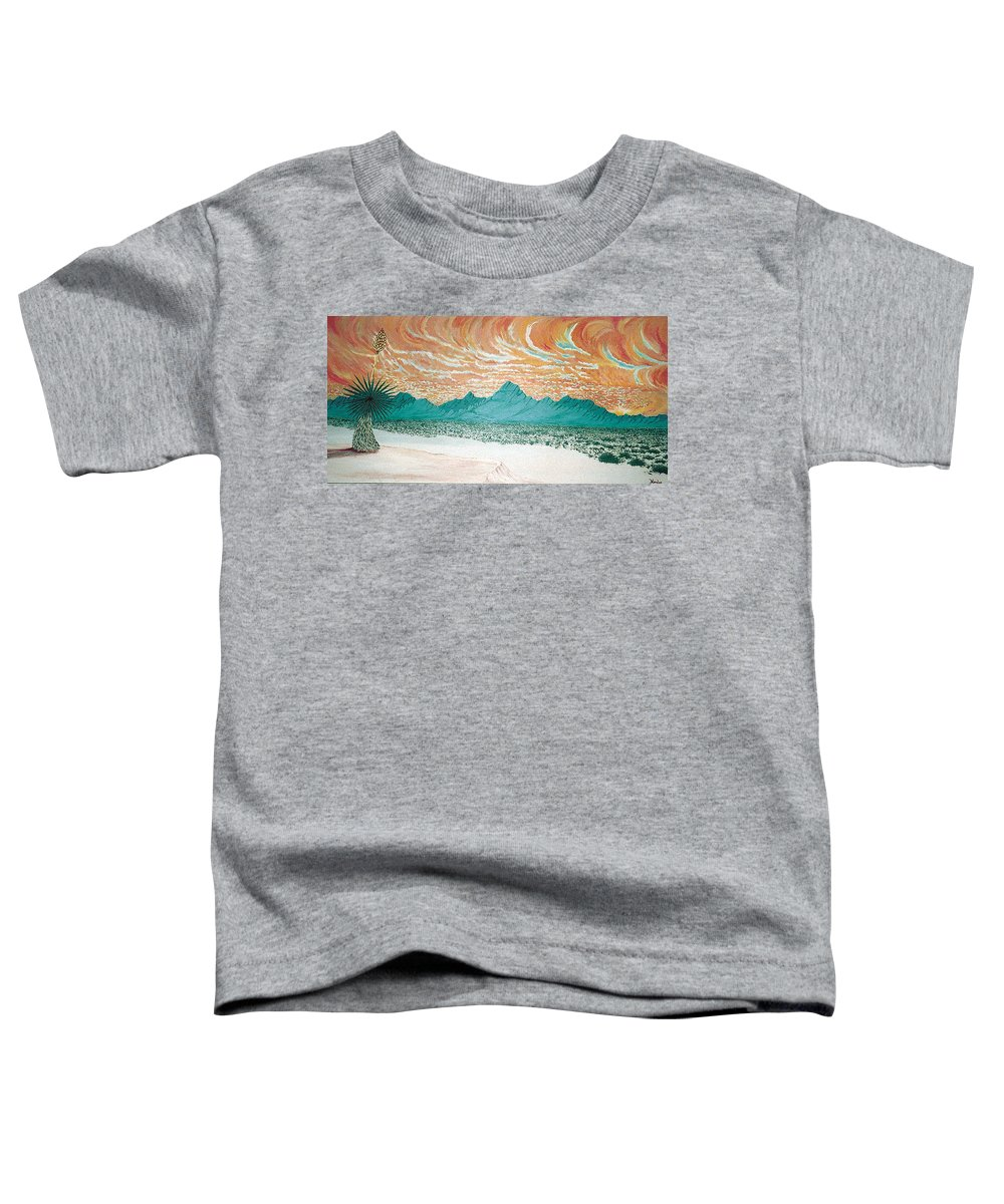 Desertscape Toddler T-Shirt featuring the painting Desert Splendor by Marco Morales